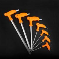 拐杖內六角扳手 鉻釩鋼CR-VT型拐杖型扳子球頭平頭6棱方2.5-14mm