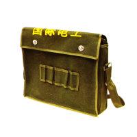 帆布工具包 軍綠色 大號電工單肩多功能包 五金工人袋套維修