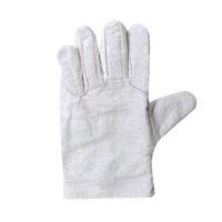 勞保手套 廠家批發帆布原條手套勞保防護耐磨防滑 白甲布24線手套