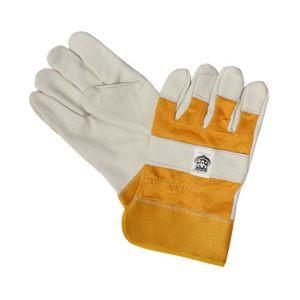 一层皮黄布浅色手套