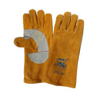 二層牛皮手套